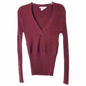 Anthropologie Cabi Silk Blend Hourglass Sweater